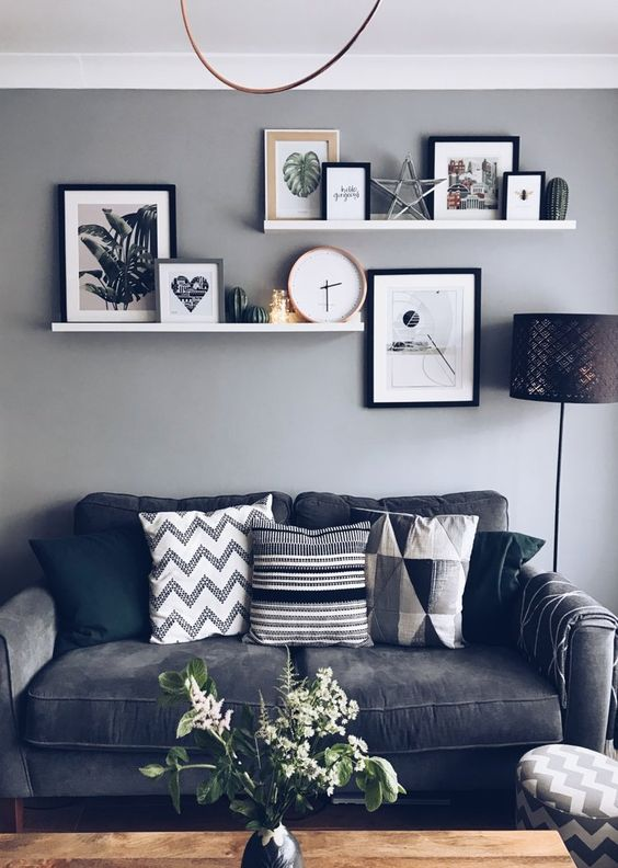 28 Awesome Shelf Decorating Ideas For Your Living Room