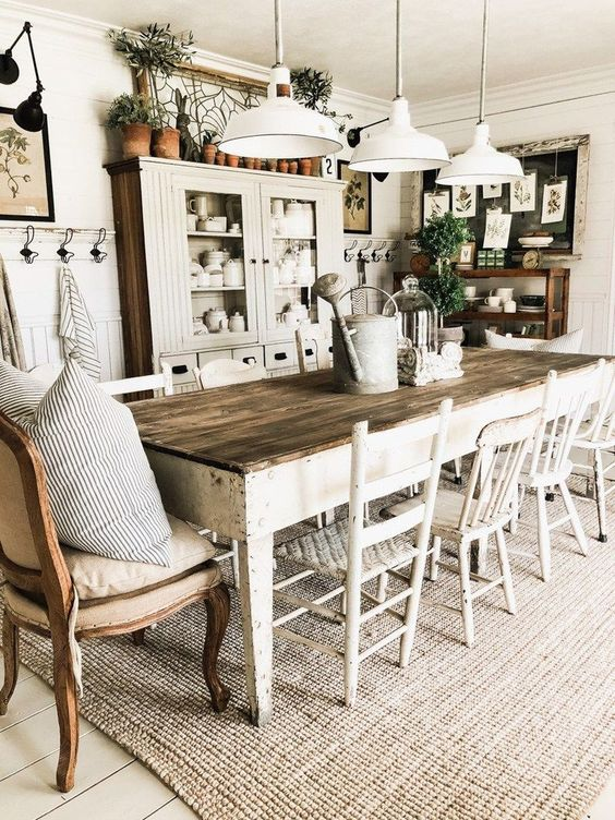 32 Farmhouse Dining Room Ideas That Are Simply Charming
