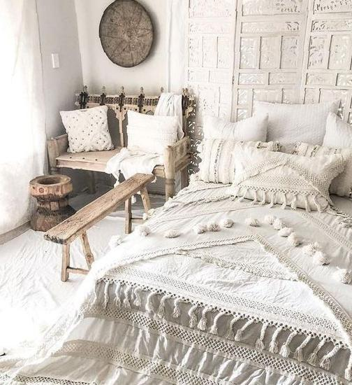 White-based bedroom design concept 2020 Home Design, bedroom, room decoration, Nordic style, white,